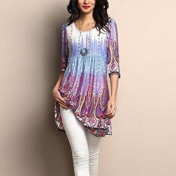 Women Long Sleeve Plus Size Tunic