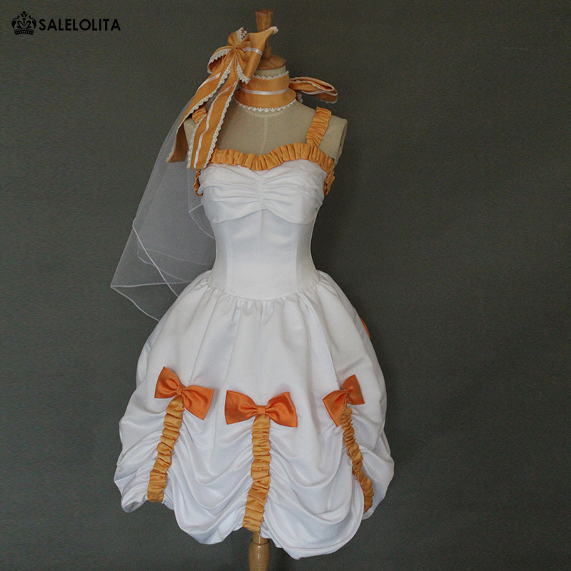 Lovelive cosplay costumes koizumi hanayo outfit anime for Sexy wedding dress costume