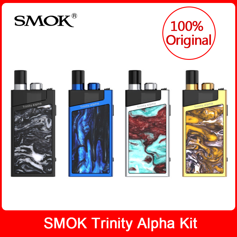 Original SMOK Trinity Alpha Kit built in 1000mAh Battery +Pod 2.8ml +Nord Mesh MTL Coil Electronic Cigarette Pod System vape kit-in Electronic Cigarette Kits from Consumer Electronics    1