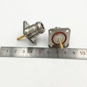 Image 4 - 10 Stuks Messing N Vrouwelijke Jack Met 4 Gat Flens Lange Solderen Panel Mount Chassis Rf Adapter Connector 25Mm * 25Mm