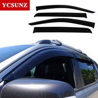 Car Window Deflectors For Ford Ranger Black Color Car Wind Deflector Guard For Ford Ranger 2016