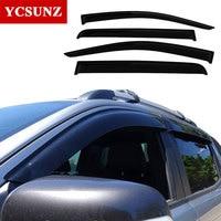 Car Window Deflectors For Ford Ranger Black Color Car Wind Deflector Guard For Ford Ranger 2016