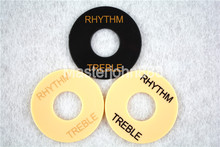 50 stücke Creme Creme Pickup Selector Plate LP E-gitarre RHYTHMUS HÖHEN Kippschalter Platten Washer Platte