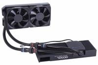 Alphacool Graphics card integrated water cooled radiator gpu cooler compatible SLI SLI Nipple RX VEGA black armor