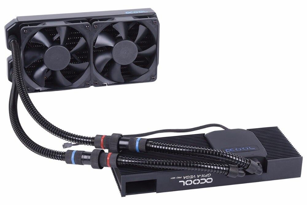 Alphacool carte Graphique intégré radiateur refroidi à l'eau ventirad gpu compatible SLI SLI-Mamelon RX VEGA noir armure