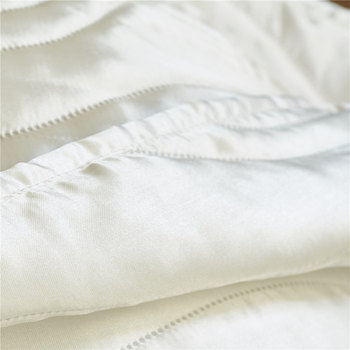 יוקרה פו משיי סאטן שמיכת מיטת כיסוי סט גל דפוס שמיכת בארה