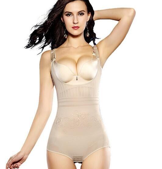 50pcs/lot fedex fast free shipping european style lady Jacquard control bodysuit nylon firm high elastic body shaper underwear
