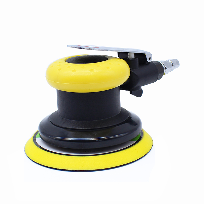 All steel rotor 5 inch pneumatic polishing machine / machine / sandpaper grinding machine / auto polisher /125mm disc machine 40pcs 80 2000 grinding machine round sand paper disc flocking sandpaper mirror polishing tools polisher sander burnishing sandi
