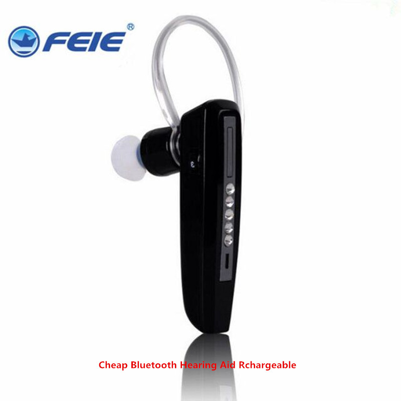 FEIE Cheap Bluetooth Rechargeable Hearing Aids S-101 mini amplificador Earphones Deaf Listening Devices Drop Shippimng feie hearing aid clinic s 219 rechargeable hearing aids at low price drop shipping