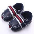 Gancho y Lazo de Cuero Suave de alta Calidad Primavera Otoño Bebé Niño Zapatos Antideslizantes Nacidos 0-12 Meses