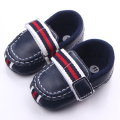 High Quality Hook and Loop Soft Leather Anti-Slip Newborn Spring Autumn Baby Boy Shoes 0-12 Months