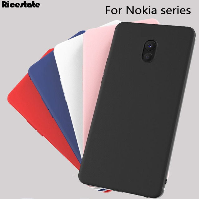 wholesale dealer 01eee 1c630 US $0.89 10% OFF|Ricestate Matte case For Nokia 3 5 6 7 8 9 case Nokia 2.1  3.1 5.1 6.1 Plus Frosted Silicone Back Cover For Nokia X6 Soft Case-in ...