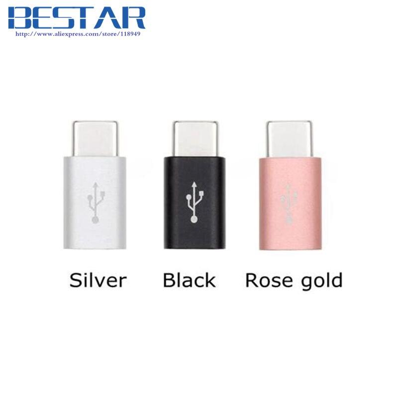2017 USB-C USB 3.1 Type-C Adaptateur USB type c Mâle À Micro USB 2.0 Connecteur Femelle chargeur de charge