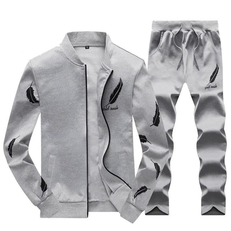 818897af987 Sweatsuit Men Clothing Tracksuit Set Crossfit 2018 Men s Set Spring Summer  Men Tracksuit Sportswear 2 Piece Set Suit Jacket+Pant
