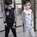 Hot Boys Leopard Spliced Clothing Set 2018 Spring Fall Children's Sports Clothes Suit 3-11 Yrs Old Kids Slim Fit Tracksuit X293