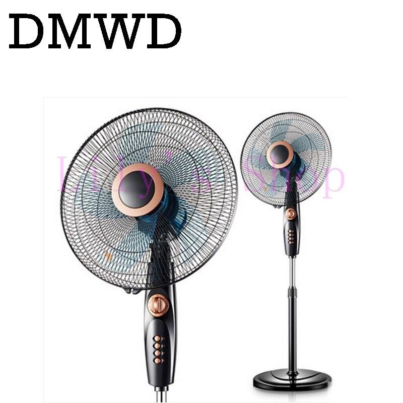 Dmwd Household Electric Fan Air Standing Fan Super Mute Floor Fans Student Dormitory Timed