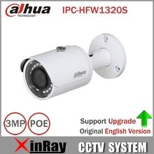 Dahua ip-камера ipc-hfw1320s 3mp poe мини пуля cctv камеры поддержка ip67 водонепроницаемая камера безопасности