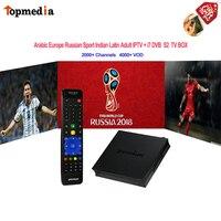 IPTV Arabic France Italia Portugal Europe Adult Avov Box With 1 Year Subscription 4000+ Channels Ipremium I7 Dvb S2 Media Player
