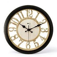 European Large Wall Clock Living Room Retro Design Silent Wall Clock Creative Big Vintage Horloge Murale Clock For Home C5T001
