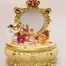 Винтажные сокровища комод безделушка коробка в туалетный столик в форме Keepsake коробка ретро старинные ремесла Подарки для женщин