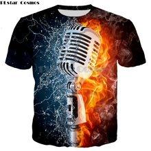 Ice Fire Printed microphone t shirt Men Women Sweatshirts Hooded Coat Streetwear Tracksuits 3d Pocket Pullover Funny Drop Shop(China)