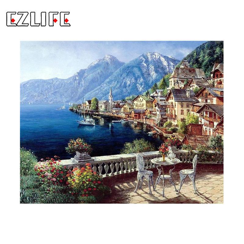 Caliente de pintura de óleo por números de imágenes digitales para colorear por número de regalo decoración del hogar