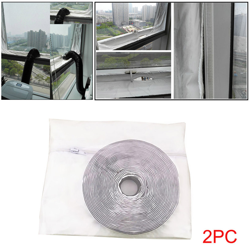 2pcs Air Lock Window Seal Cloth Plate Sealing For Mobile Air Conditioners Air-Conditioning Units waterproof 4m Cloth 0711#