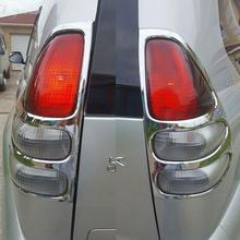 ABS cromado para Toyota land cruiser Prado 120 cola accesorio cubierta de la luz para Toyota land cruiser prado fj120 2003-2008 SUNZ