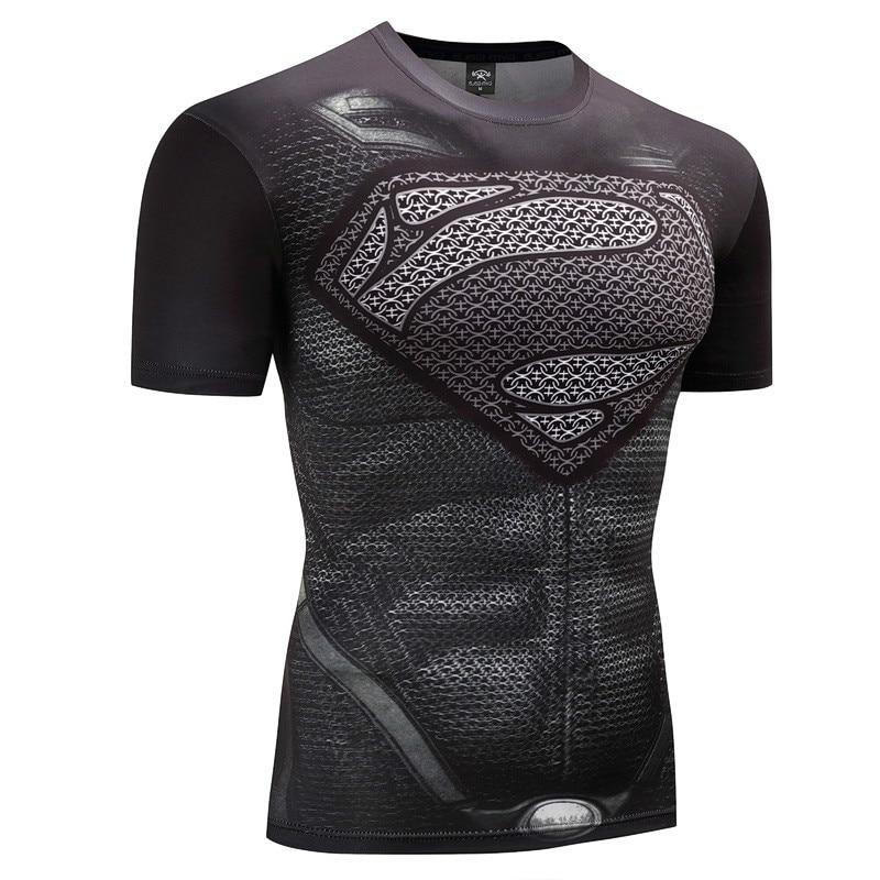 Fitness Compression Shirt Men Anime Bodybuilding Rashgarda rashguard MMA tops tees 3D Superman Punisher T Shirt t-shirt tshirt