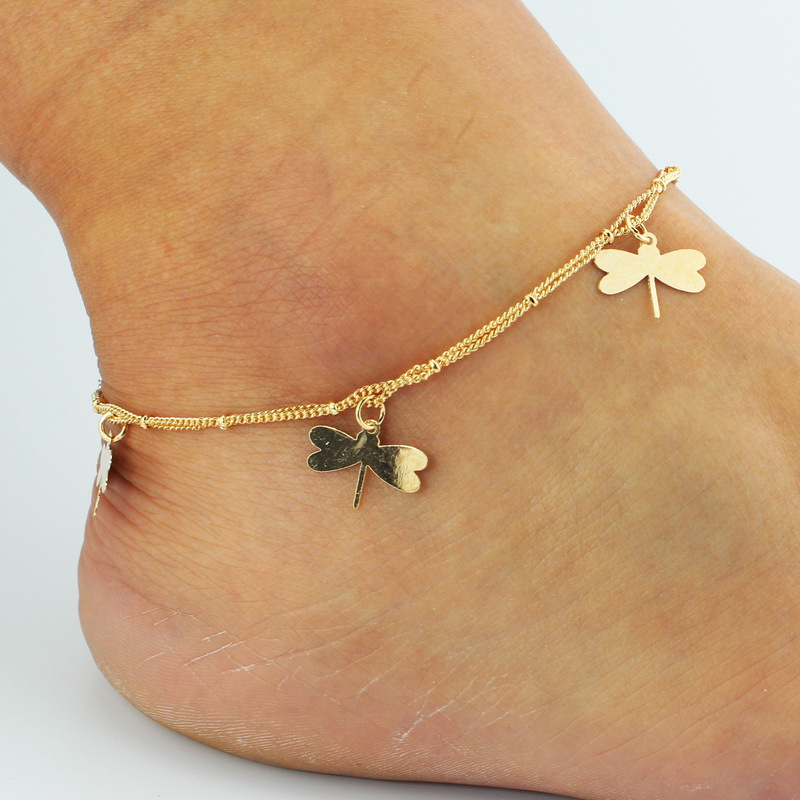Ankle Bracelet Foot Leg Chain Hot Sexy Women Chain Link Dragonfly Ankle Anklet Bracelet Barefoot Sandal Beach Foot Jewelry