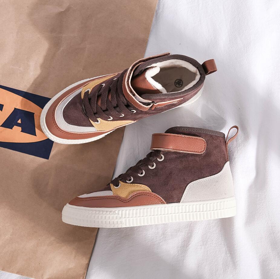 XCZJ 2019 autumn and winter new Martin boots female students Korean version of cotton shoes plus velvet women's shoes boots 20