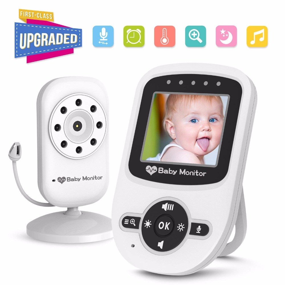 babykam baby monitor baby monitors 2.4 inch LCD IR Night Vision Intercom Lullabies Temperature Monitor 2X Zoom baby camera nanny pearl beaded flounce skirt
