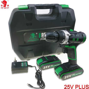 25V power tools Cordless Drill electric Drill Electric 2 Batteries Screwdriver Mini Drill electric drilling electric screwdriver - DISCOUNT ITEM  35% OFF All Category