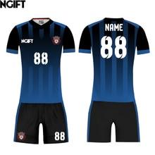 f5f080bdc09be Ngift camisetas de fútbol diseño personalizado uniformes plenamente de Club  de fútbol de impresión de ropa deportiva