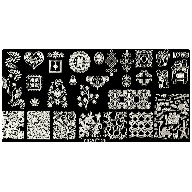 10Pcs Lot Nail Art Stamping Plate Flower Christmas Design Template Image Plate Nail Stamp Plate Set YICAI 21 30 in Nail Art Templates from Beauty Health