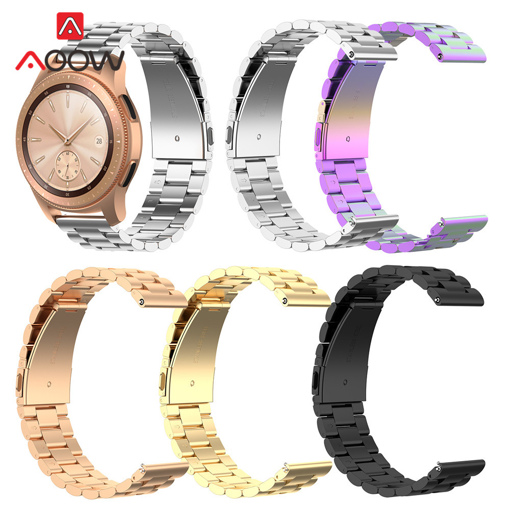 20mm 22mm Stainless Steel Watchband For Samsung Galaxy Watch Active 42mm 46mm Bracelet Band Strap Accessories For Huami Amazfit