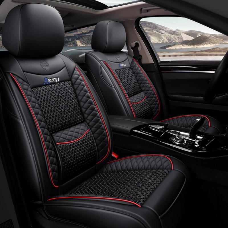 General Purpose Leather Ice Silk Black Red Orange Brown Car Seat