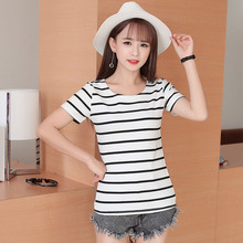 2018 summer women s casual striped t shirts AT24