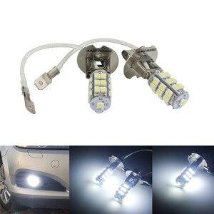 Image 1 - ANGRONG 2 pcs 453 H3 25 SMD LED סופר לבן קסנון פנס ערפל אור נורות מנורות 12 V