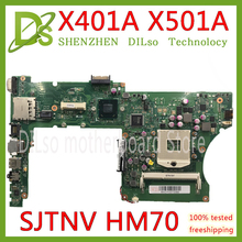 KEFU X401A HM76 For ASUS X301A X501A motherboard original  SJTNV HM70 Support Test