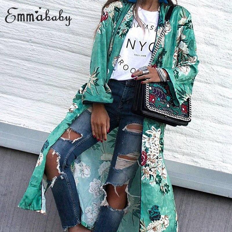 Floral Printed Women Vintage Floral Loose Shawl Long Kimono Cardigan Boho Tops Summer Chic Chiffon Cardigan Long Shirts cardigan