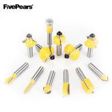 FIVEPEARS 8mm Shank 12pcs Router Bits Set Professional Tungsten Carbide Router Bit Cutter Set With Wooden Case For Wood