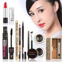 Free Shipping Beauty Hot Makeup Set Eyeshadow Palette Eyelashes Brush Mascara Eyeliner Pen Kit Maquiagem GUB