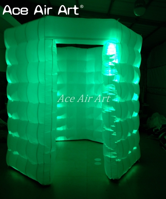 new fashionable wonderful octagonal inflatable lighting photo booth with changing color
