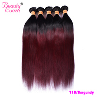 Ombre Brazilian Hair 3/4 Bundles 10 24 Inches Honey Blonde Straight Bundles T1B/27(30) Burgundy Red Remy Human Hair Extensions