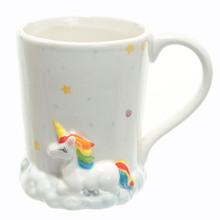 3D Unicorn Rainbow and Clouds Ceramic Coffee Mug