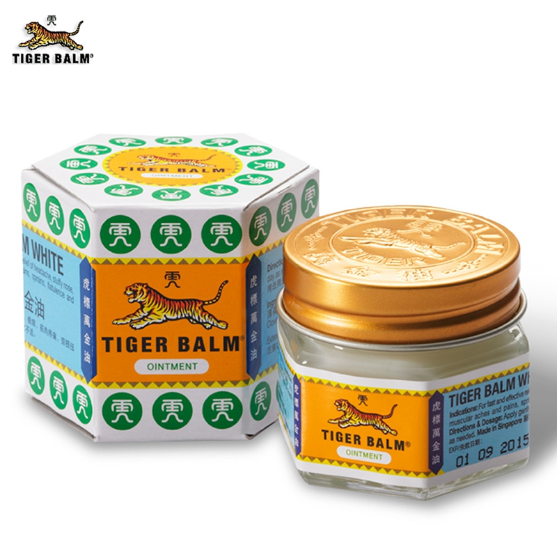 White Tiger Balm Ointment Painkiller Muscle Pain Relief Ointment Soothe itch for Headache and suffy nose цена