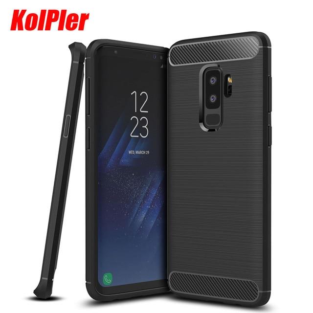 size 40 fa399 6adba US $3.9 20% OFF|KOLPLER Luxury Carbon Fiber Protection Case For Samsung  Galaxy S9 plus Case Silicon Soft Case For Samsung S9 plus cover fundas-in  ...