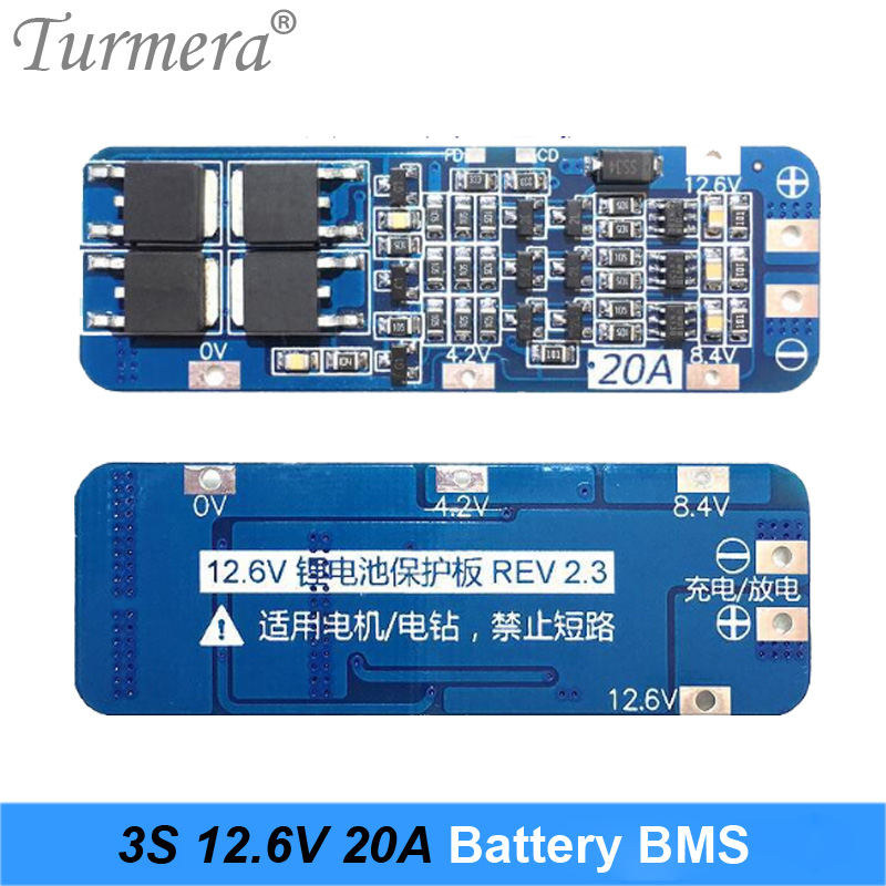 3S 20A Li-ion Lithium Battery PCB Protection Board <font><b>BMS</b></font> for Screwdriver Battery <font><b>12V</b></font> 12.6V Use image