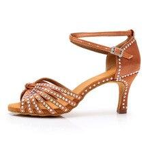 69da37a4e1 Nova Rhinestone das mulheres senhoras meninas Dança Latina Shoes Ballroom  tango salsa Sapatos de Dança Sapatos